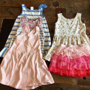 Lot of 5 Dresses, tunic, skirt, size 3T